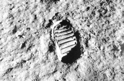 Neil Amstrong footprint