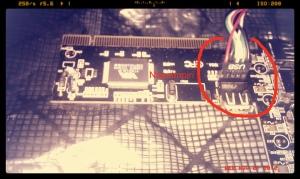 Placing and external panel connector on an external PCI usb card